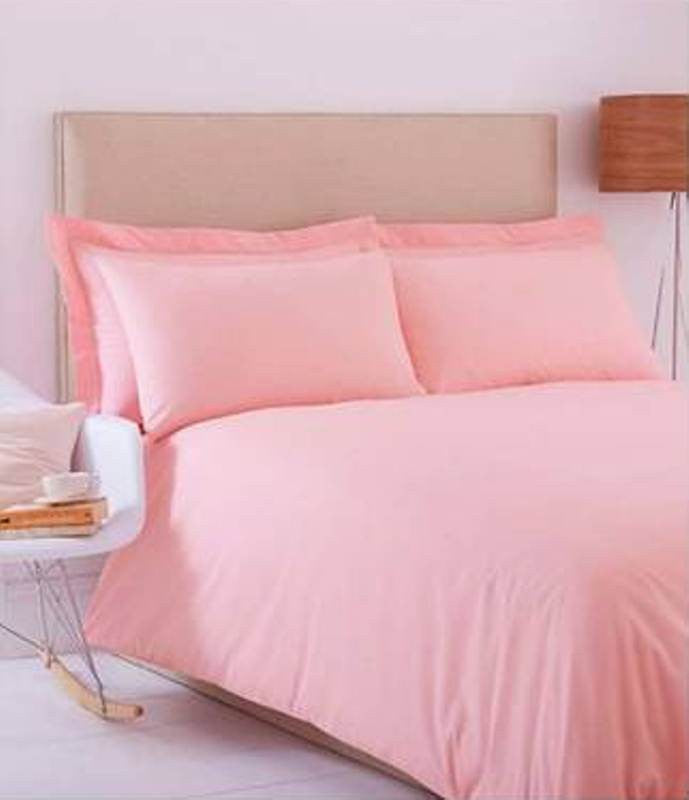 Baby Pink Solid Fitted Sheet