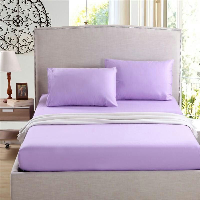 Mauve Solid Fitted Sheet