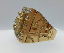 Custom Nugget Gold Ring. Mens Large Gold Ring