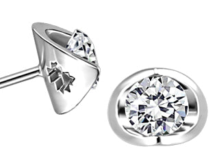 14K Canadian Diamond 0.50Ct Earrings