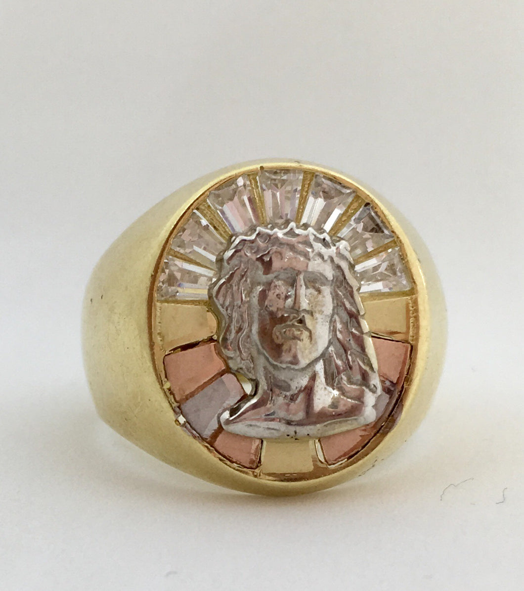 10K Jesus Head Ring