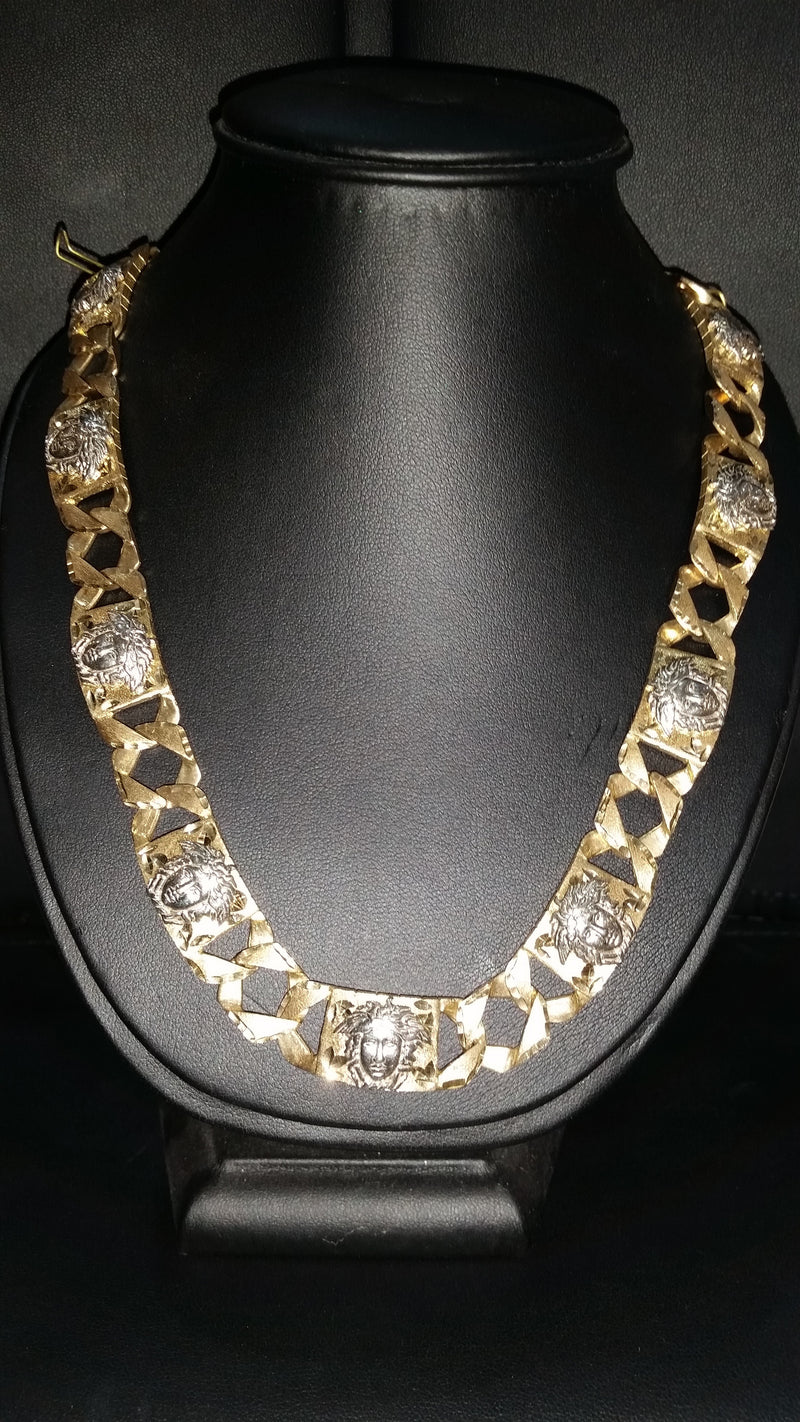 10kt Versace Link Chain 10KVER1 – Gold