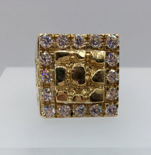 Gold Nugget Ring. Cubic Nugget Ring. Nuggets
