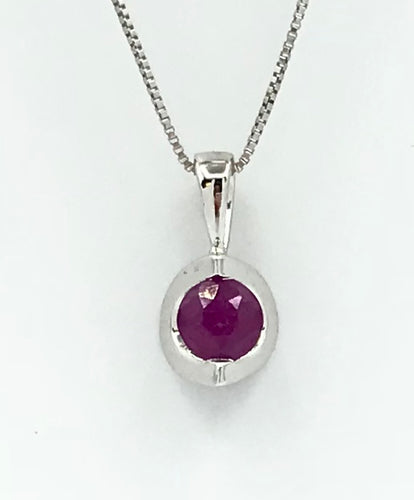 10K Ruby Pendant with Chain Forever Jewellery