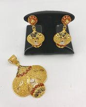 21K Yellow Gold Earring and Pendant Set (SOLD)