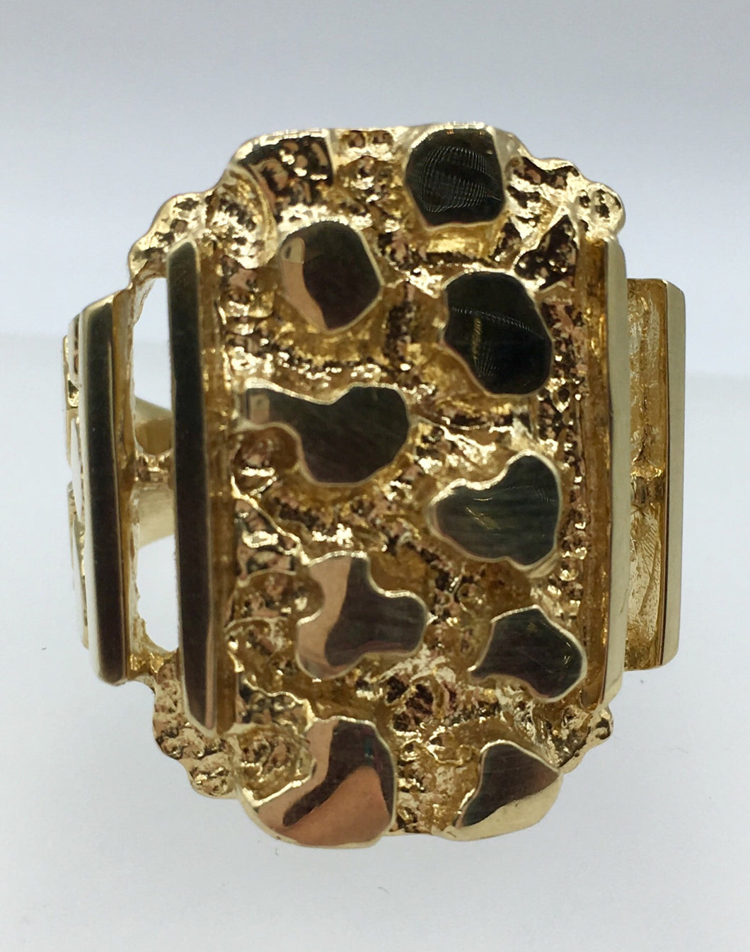 10K Large Gold Nugget Ring SAL10YGLNR