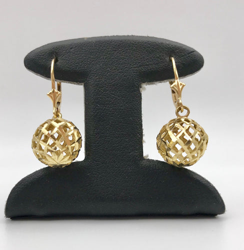 14K Pineapple Earrings