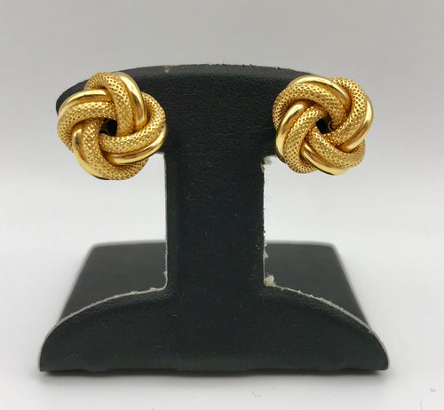 14K Knot Earrings