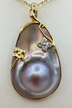14K Gold Mother of Pearl Pendant