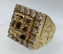 10kt gold large nugget ring. Nugget Gold Ring