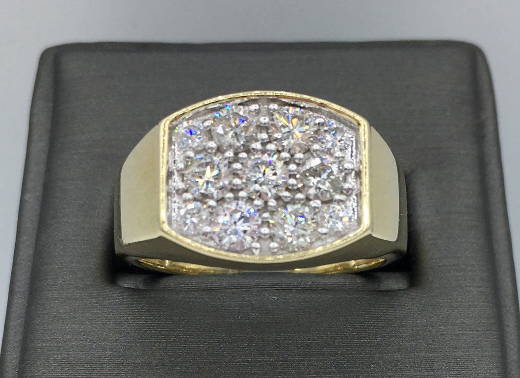 10K Men's Gold 1.5Ct Diamond Ring TPJ10326YGTRILL