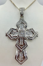14K 7.55Ct TDW Diamond Cross Pendant (SOLD)