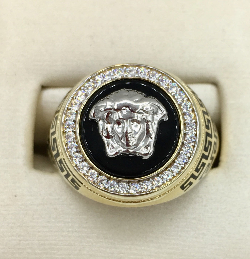 10K Medusa Head Versace Ring