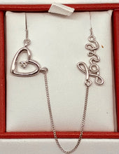 10Kt WG Canadian Diamond Love Necklace