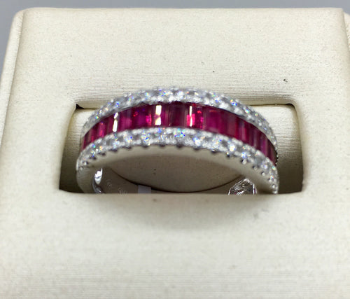 18K 1.45Ct Ruby Diamond Ring