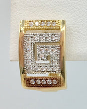Gold Versace Earrings with Greek Key Symbol
