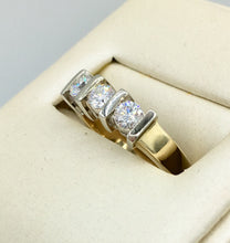 14K Gold Past, Present and Future Diamond Ring