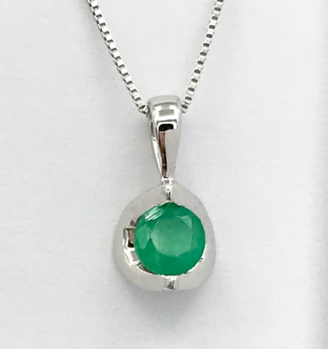 10K Emerald Pendant with Chain Forever Jewellery