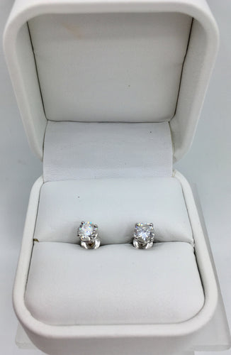 14K Diamond Stud 1.10Ct TDW Earrings