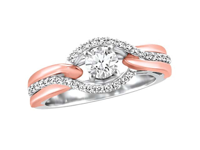 Diamond Engagement Ring with Rose Gold BH-ERG00016