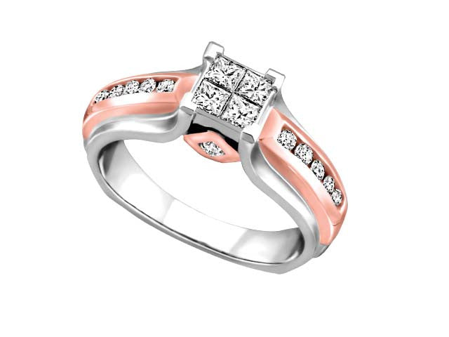 Princess Collection 0.50ct tdw. with a splash of rose gold BH-ERG00017