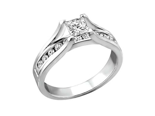 Princess Collection 0.75 ct tdw 14kt white gold BH-ERG00031