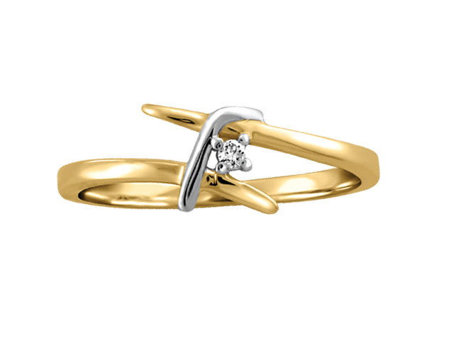 Different By Design Diamond Twist Over Ring in 10kt Two-Tone Gold BH-LR00019