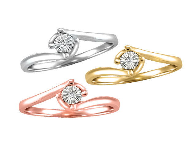 Different By Design Diamond Ring in 3 variety 10kt Gold BH-LR00021