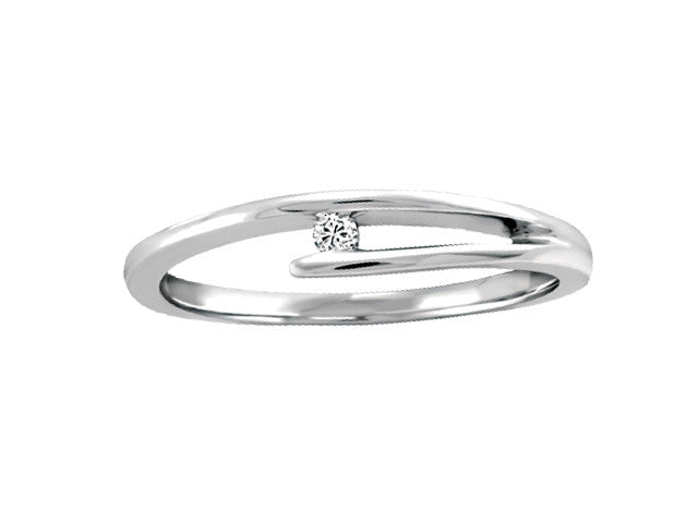 Different By Design Solitaire Bypass Diamond Ring in 10kt White Gold BH-LR00023