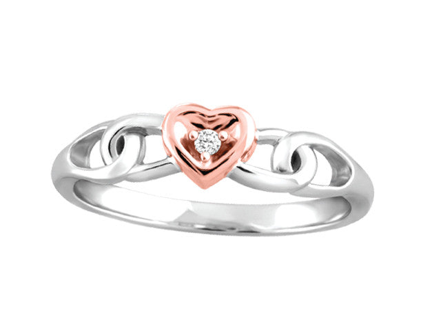 Different By Design Diamond Hook Heart Ring in 10kt Two-Tone Gold BH-LR00024