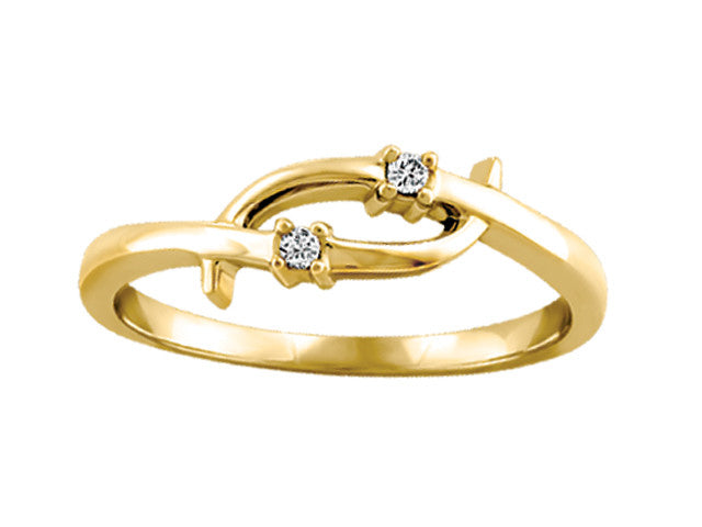 Different By Design Diamond Twist Over Ring in 10kt Yellow Gold BH-LR00025