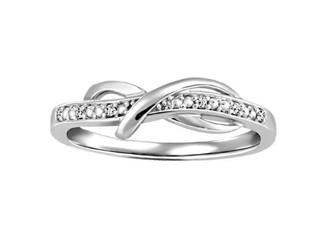 Different By Design Diamond Love Knot Ring in 10kt White Gold BH-LR00028