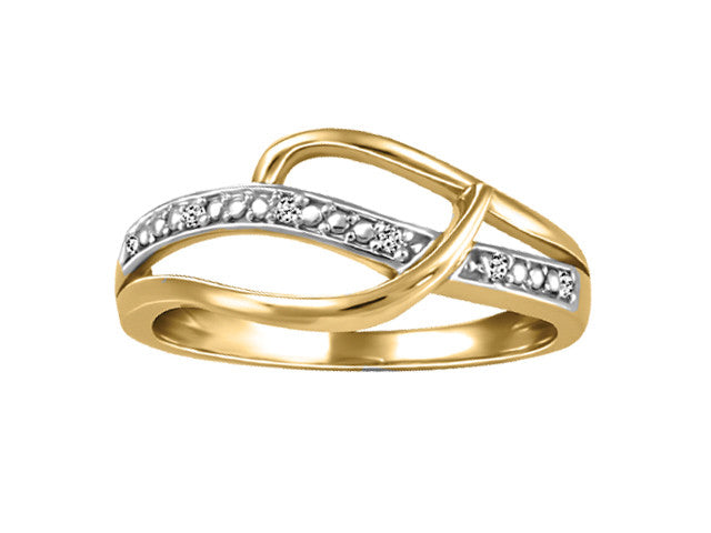 Different By Design Diamond Wave Ring in 10kt Two-Tone Gold BH-LR00031