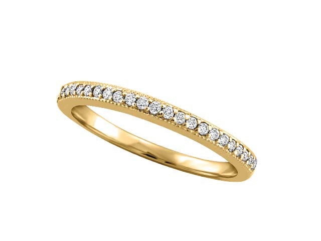 I Promise' 3 tone variety .15ct Channel-Set Diamond band in 10kt Gold BH-LR00035