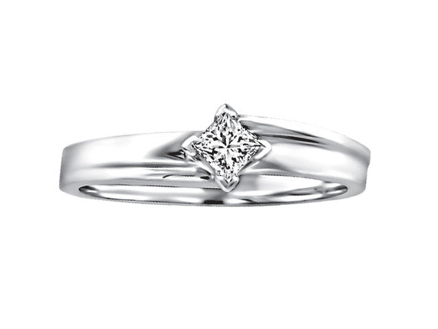 Different By Design .05ct Princess Diamond Ring in 10kt White Gold BH-LR00058