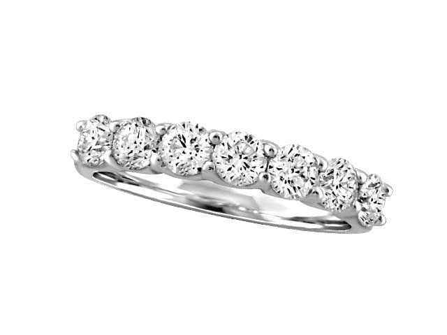 Seven Stone .20 tw Canadian Diamond Ring in 14kt White Gold BH-LR00063