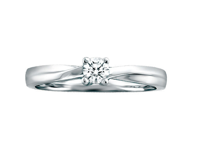 Solitaire Canadian Diamond Ring. Engagement Ring. Promise Ring