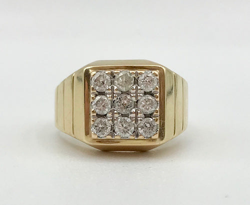 14K 0.90Ct TDW Men's Ring