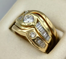 14K Ladies Diamond 3 Ring Set