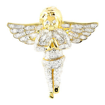 10KY 0.75ctw Diamond Angel Pendant CHR0175YAGGSJ