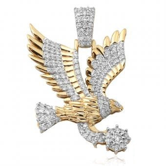 10KY 1.50ctw Diamond Flying Eagle Pendant CHR0587YAGGSJ