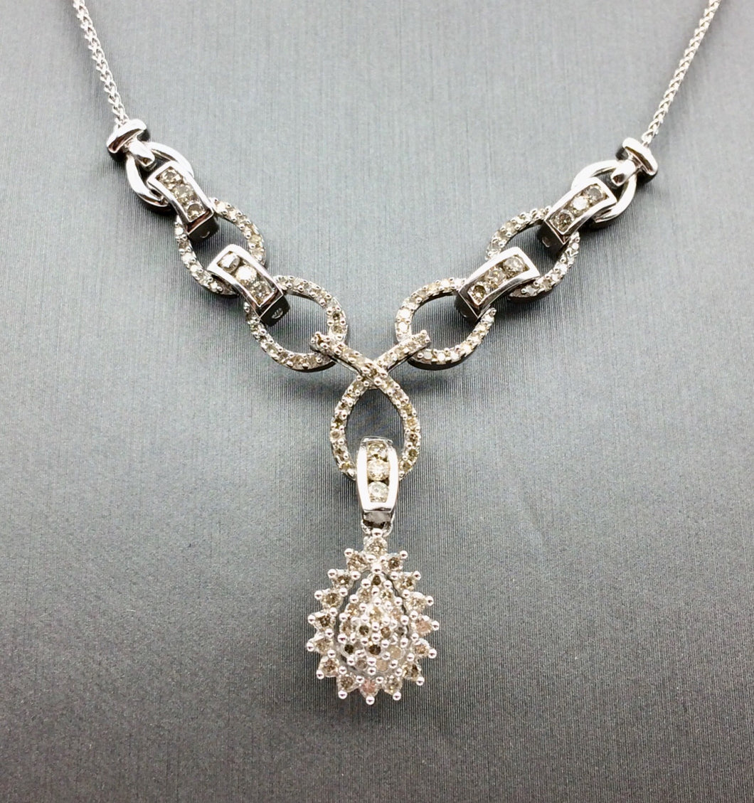 10K Diamond necklace