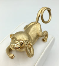 10K Solid Gold Monkey Pendant