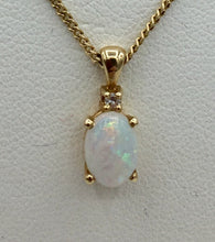 14K Opal Pendant and Chain