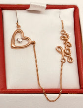 10Kt Rose Gold Canadian Diamond LOVE Necklace