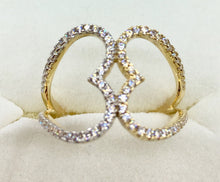 10K Yellow Gold 2 Hearts Ring RYH43076CB370