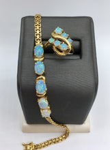 18K Opal Bracelet and Ring Set