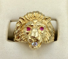 10K Lion Head Ring