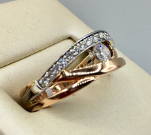 14K Rose Gold Diamond Ring R-3607