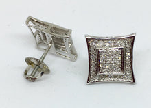 10K Men's White Gold Diamond Kite Earrings MCAC1976QGSJ
